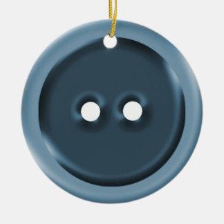 Botão azul grande enfeites para arvore de natal
