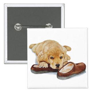 botão bonito da arte de labrador retriever do cão  bóton quadrado 5.08cm