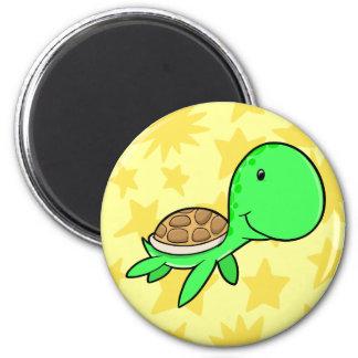 Botão bonito da tartaruga de mar ímã redondo 5.08cm