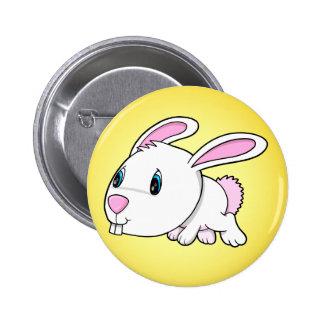 Botão bonito do coelho de coelhinho da Páscoa Bóton Redondo 5.08cm