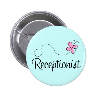 Botão bonito do recepcionista bóton redondo 5.08cm