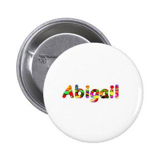 Botão branco do pinback de Abigail Botons