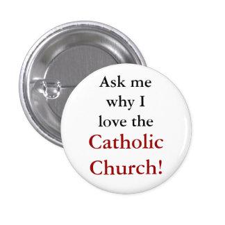 Botão católico da evangelização bóton redondo 2.54cm