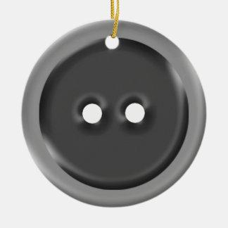 Botão cinzento grande enfeite para arvore de natal