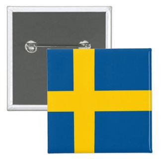 Botão com a bandeira da suecia botons