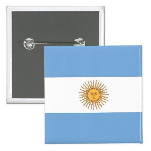 Botão com a bandeira de Argentina Boton
