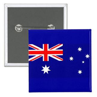 Botão com a bandeira de Austrália Bóton Quadrado 5.08cm
