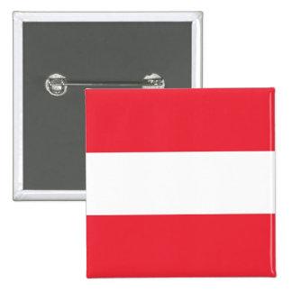 Botão com a bandeira de Áustria Pins