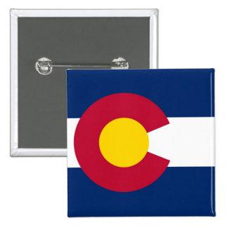Botão com a bandeira de Colorado Bóton Quadrado 5.08cm