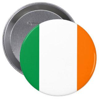 Botão com a bandeira de Ireland Bóton Redondo 10.16cm