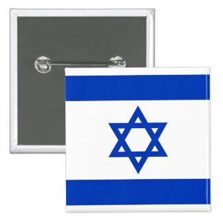 Botão com a bandeira de Israel Bóton Quadrado 5.08cm