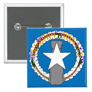 Botão com a bandeira de Northern Mariana Islands Bóton Quadrado 5.08cm