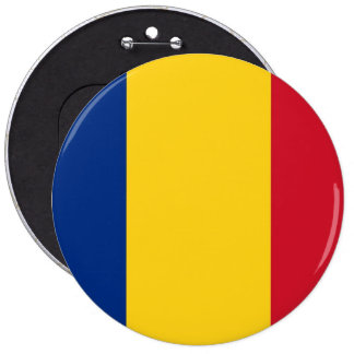 Botão com a bandeira de Romania Bóton Redondo 15.24cm