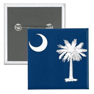 Botão com a bandeira de South Carolina Boton