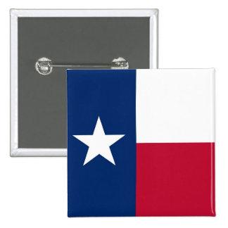 Botão com a bandeira de Texas Bóton Quadrado 5.08cm
