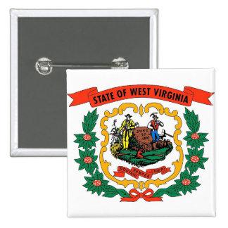 Botão com a bandeira de West Virginia Pins