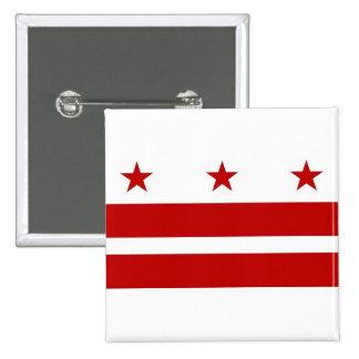 Botão com a bandeira do Washington DC Bóton Quadrado 5.08cm