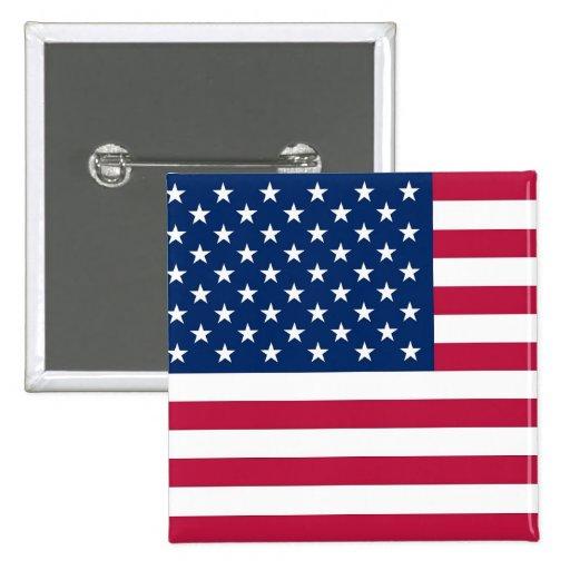 Botão com a bandeira dos EUA Botons