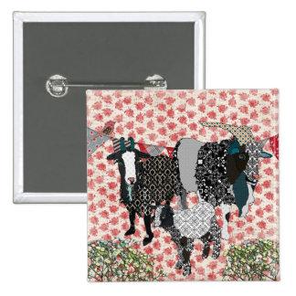 Botão cor-de-rosa de desmaio das cabras boton
