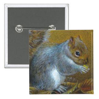 Botão/crachá cinzentos da pintura das belas artes bóton quadrado 5.08cm