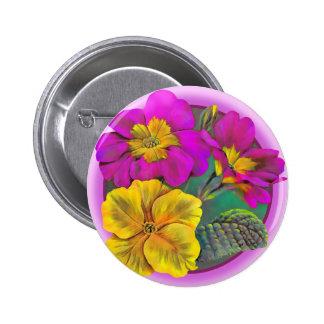 Botão/crachá das belas artes do Primula Bóton Redondo 5.08cm