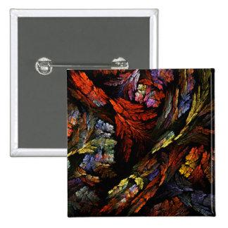Botão da arte abstracta da harmonia da cor (quadra bóton quadrado 5.08cm