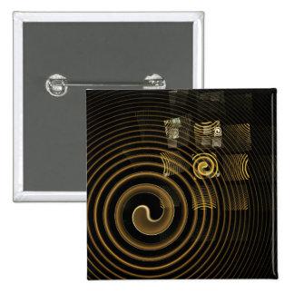 Botão da arte abstracta da hipnose (quadrado) bóton quadrado 5.08cm