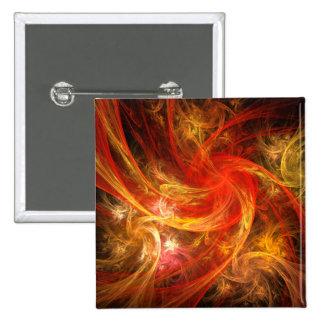Botão da arte abstracta da nova do incêndio (quadr bóton quadrado 5.08cm