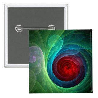 Botão da arte abstracta de Red Storm (quadrado) Bóton Quadrado 5.08cm