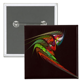 Botão da arte abstracta do camaleão (quadrado) bóton quadrado 5.08cm