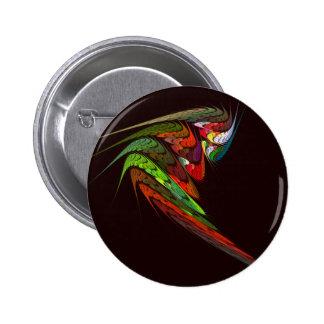 Botão da arte abstracta do camaleão (redondo) bóton redondo 5.08cm