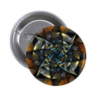 Botão da arte abstracta do Pinwheel (redondo) Bóton Redondo 5.08cm