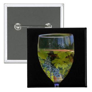 Botão da arte do vinho bóton quadrado 5.08cm