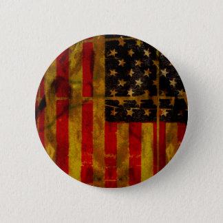 Botão da bandeira americana do Grunge dos EUA Bóton Redondo 5.08cm