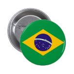 Botão da bandeira de Brasil Boton