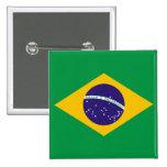 Botão da bandeira de Brasil Pins