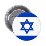 Botão da bandeira de Israel Bóton Redondo 5.08cm