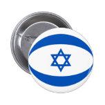 Botão da bandeira de Israel Fisheye Pins