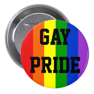 Botão da bandeira do arco-íris do orgulho gay redo botons