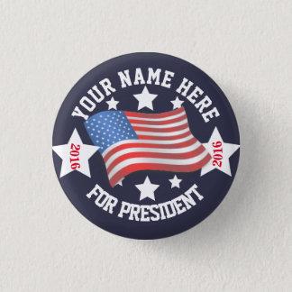Botão da campanha com bandeira bóton redondo 2.54cm