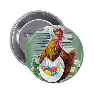 Botão da galinha e da páscoa dos ovos bóton redondo 5.08cm