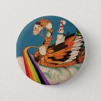 botão da koi-cisne bóton redondo 5.08cm