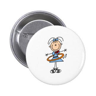 Botão da menina da aro de Hula Bóton Redondo 5.08cm