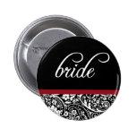 Botão da noiva da beleza do damasco boton