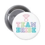 Botão da noiva da equipe boton