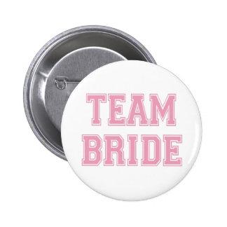 Botão da noiva da equipe bóton redondo 5.08cm