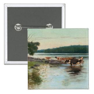 Botão da opinião do lago Keinänen Pins