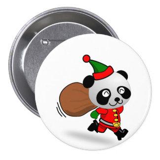 Botão da panda do papai noel bóton redondo 7.62cm