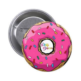 Botão da rosquinha do FD Bóton Redondo 5.08cm
