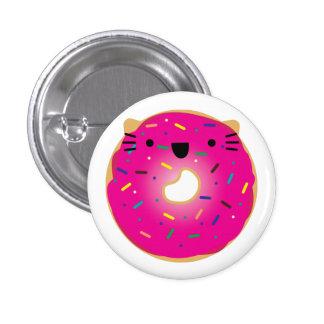 Botão da rosquinha do gato da morango bóton redondo 2.54cm